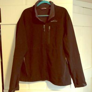 EUC Men's Eddie Bauer black soft shell jacket, XXL